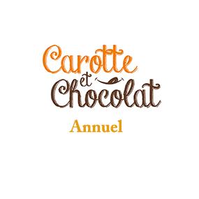 Abonnement d'un an au magazine culinaire Carotte et Chocolat.